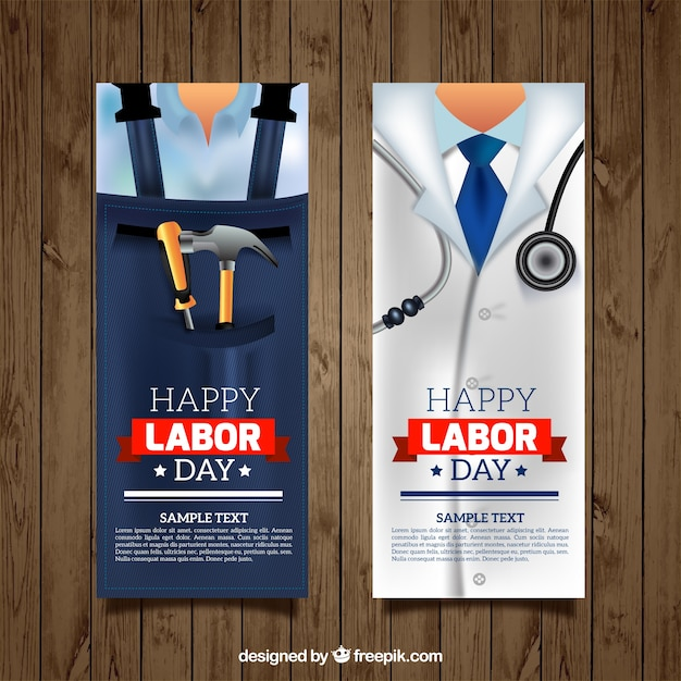 Banners of professions Free Vector