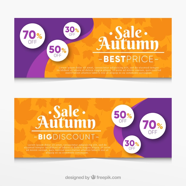 Banners sales for autumn