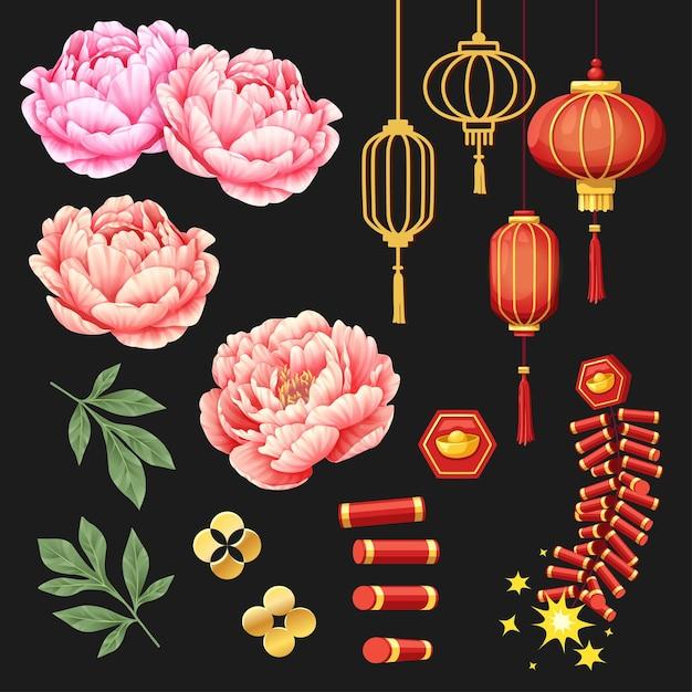 Баннеры с элементами китайского нового года 2021 Бесплатные векторы