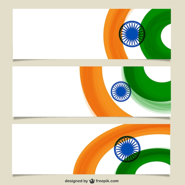 Banners with indian flag Vector | Free Download