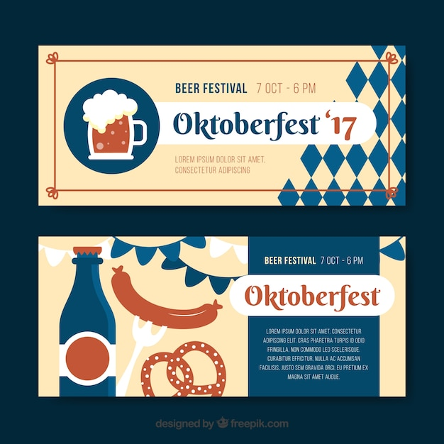 Banners with oktoberfest products