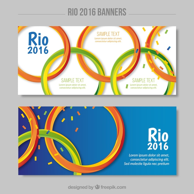 Banners With Olympic Games Symbol Vector Free Download