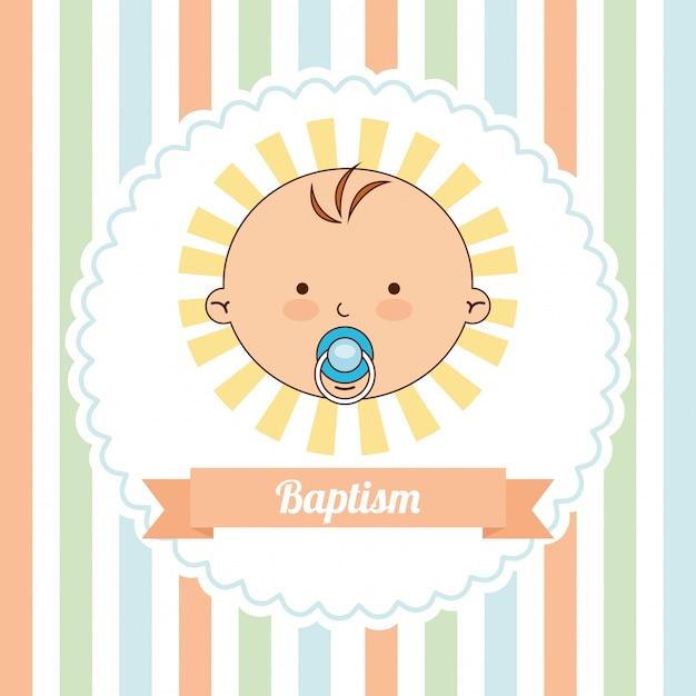 Baptism invitation design Premium Vector