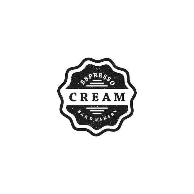Bar bakery vintage badge logo Premium Vector