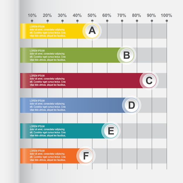 Bar chart graph diagram statistical horizontal infographic
