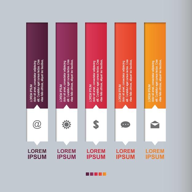 Bar chart graph steps diagram statistical business infographic illustration Premium Vector