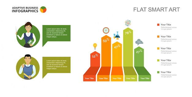 Bar Chart Slide Template Vector  Free Download