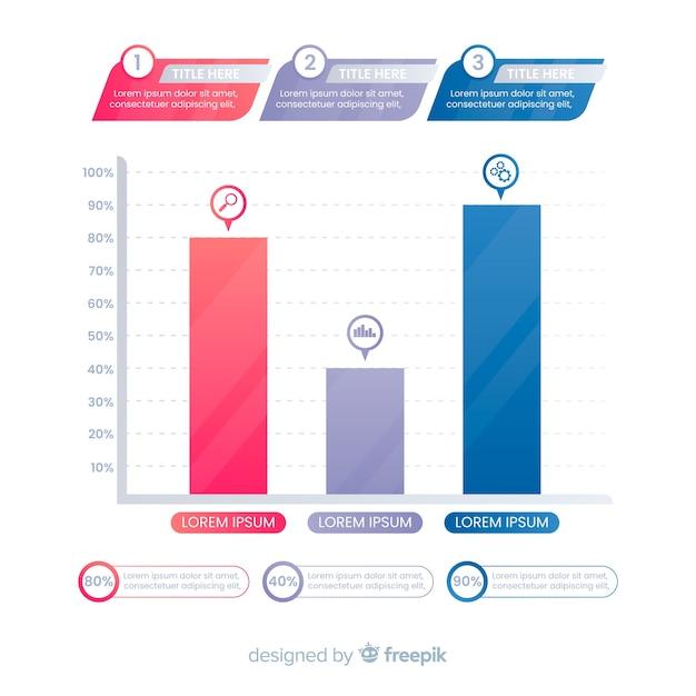 Bar chart Free Vector