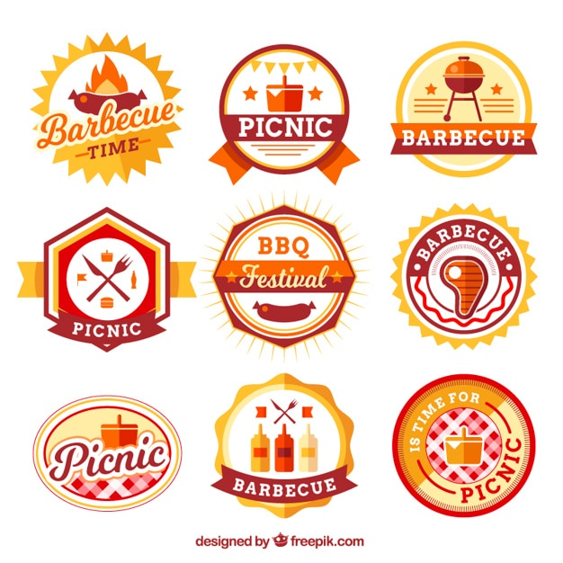 Barbecue and picnic label collection