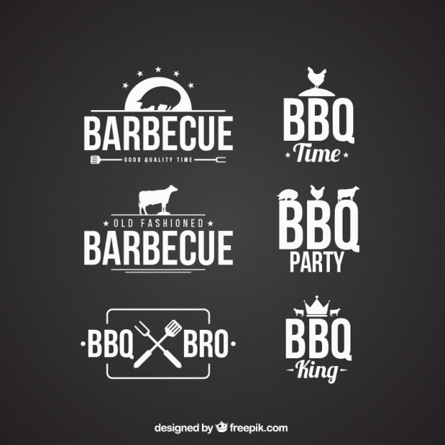 Barbecue badges collection Free Vector