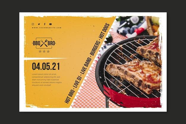Modello di banner barbecue Vettore gratuito