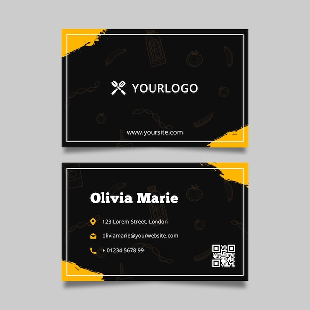 Barbecue business card template Free Vector
