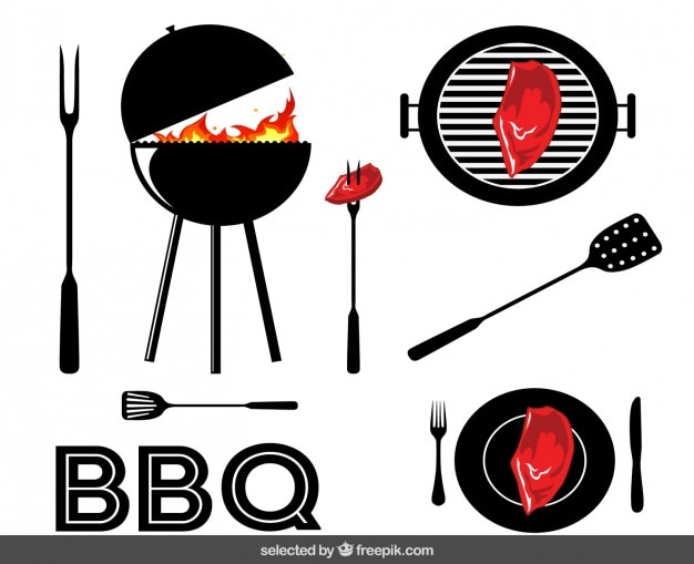 Barbecue elements Vector | Free Download