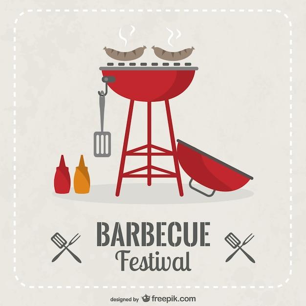 barbecue festival invitation vector free download