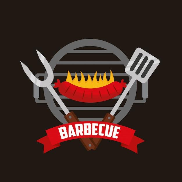 Griglia per barbecue Vettore gratuito