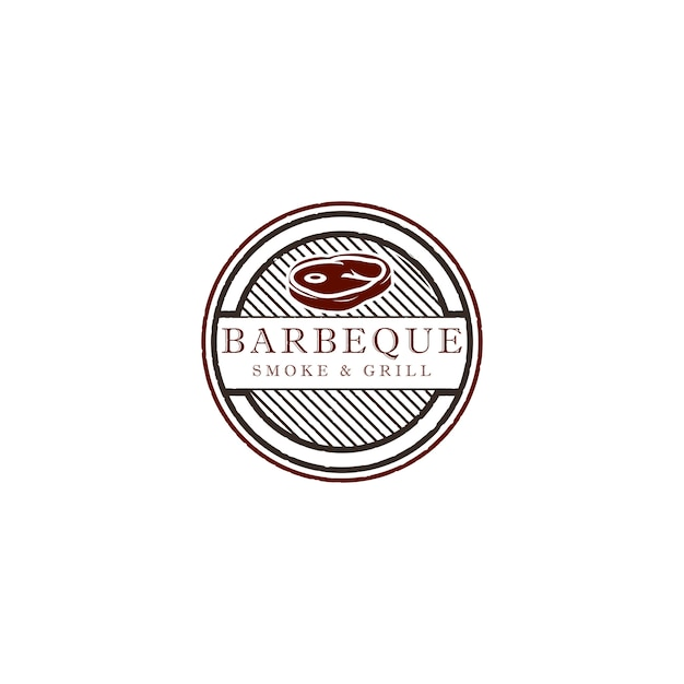 Barbecue logo design illustration Premium Vector