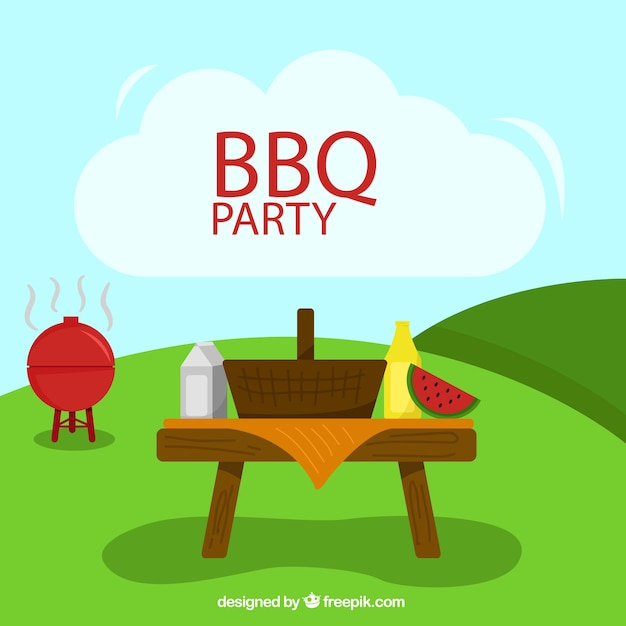 barbecue party in a summer day background vector free barbeque clip art food inviting you to barbecue clipart