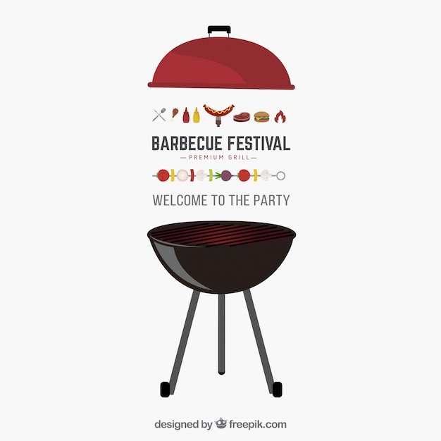 Barbecue party invitation Free Vector