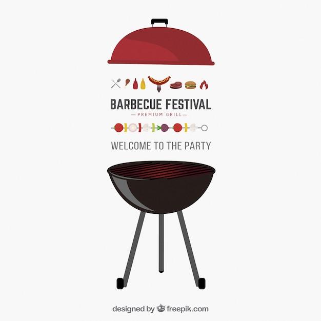 Barbecue party invitation Free Vector