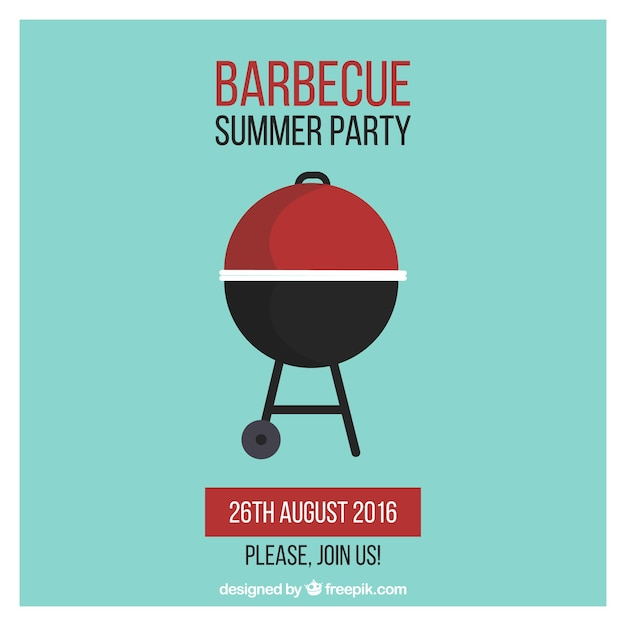 Barbecue Party Poster Vector Free Download