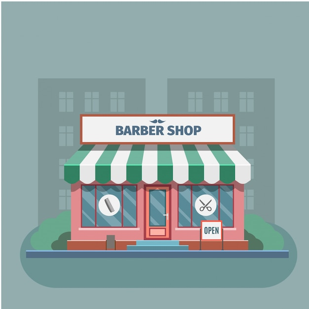 Barber in the barber shop Premium Vector