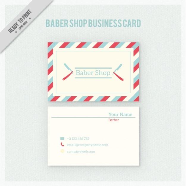 Парикмахерская визитная карточка в стиле ретро Бесплатные векторы