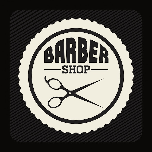 Barber shop design Premium Vector