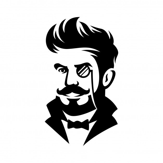 Barber Shop Gentleman Haircut Illustration