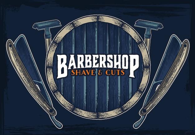 barber shop hipster vintage sign template vector premium download