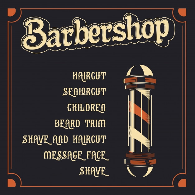 Barber Shop Price List Template Vector  Premium Download