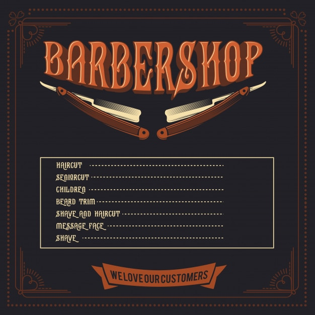 Barber shop price list template vaydileforic barber shop price list template barber shop price list template maxwellsz
