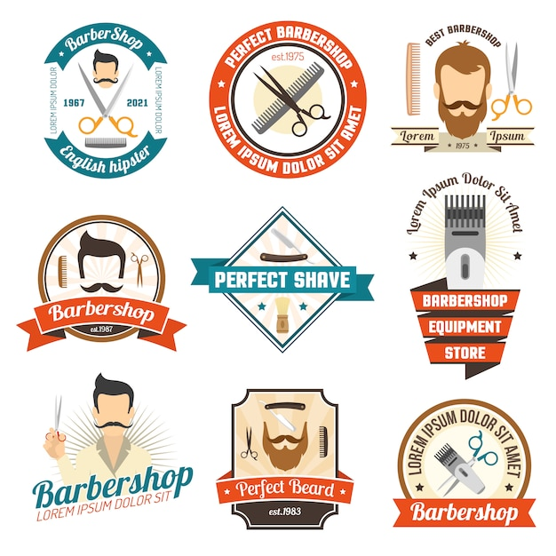 Barber shop sign Free Vector