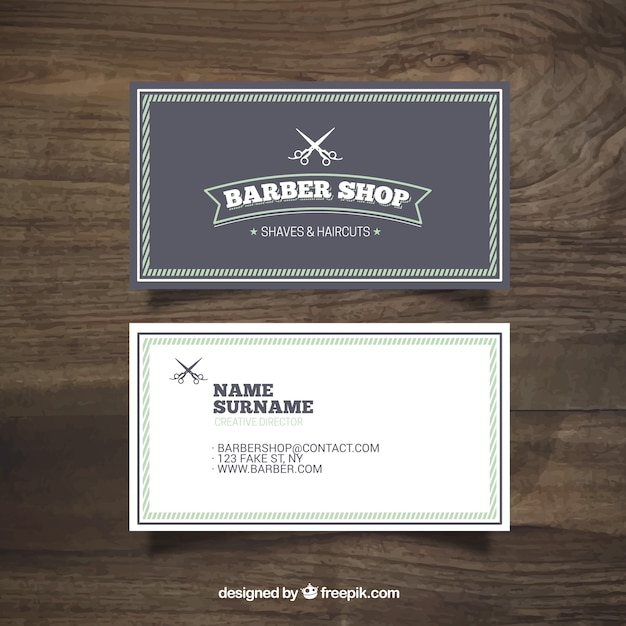 Barber shop vintage card