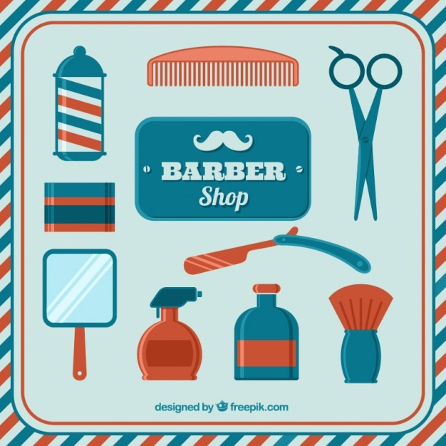 Barber shop vintage elements