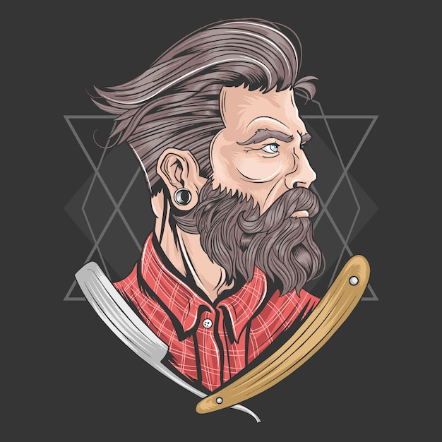 Barber vector element Premium Vector