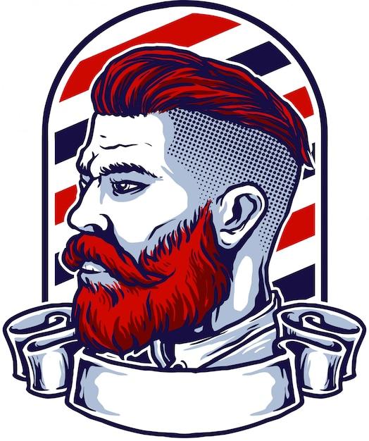 Barberman Premium Vector