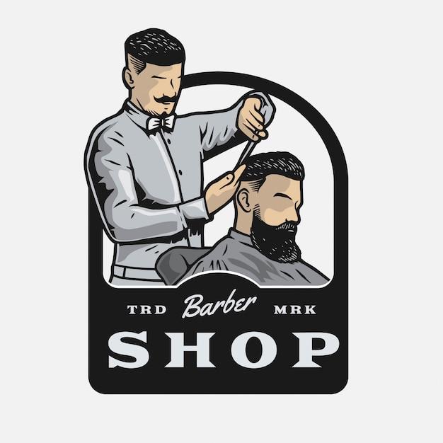 Barbershop stylist Premium Vector