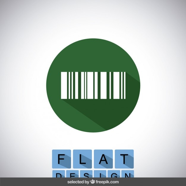 Barcode icon Free Vector