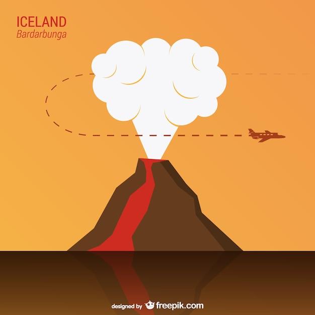 Bardarbunga volcano vector Free Vector