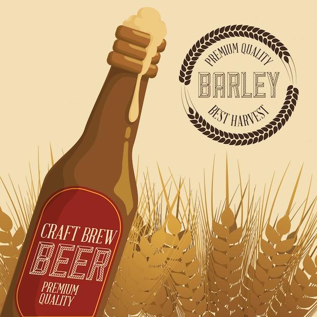 Barley design Premium Vector