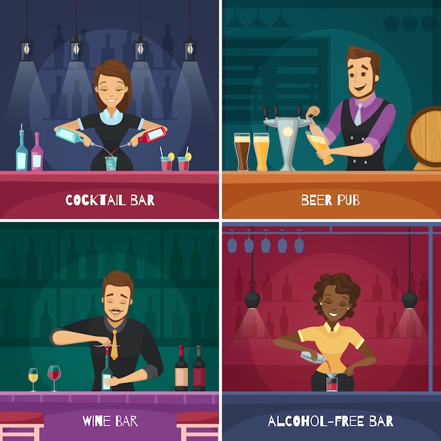 Barman Free Vector
