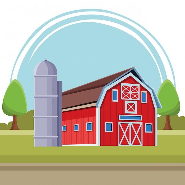 Barn Illustration Cartoon Vector Premium Download