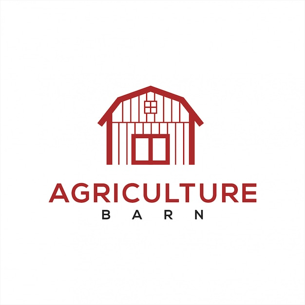 Barn logo for the agricultural industry Premium Vector