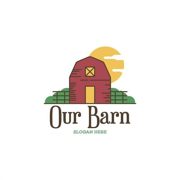 Barn logo concept Premium Vector