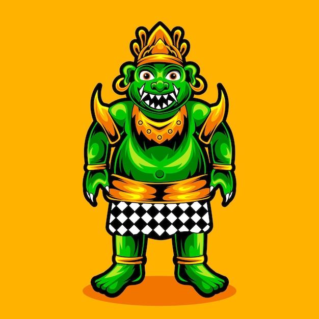 バロンogoh-ogoh文化バリのインドネシアの全身キャラクター Premiumベクター