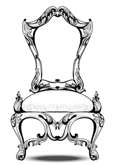 Baroque chair with luxurious ornaments. french luxury rich ...