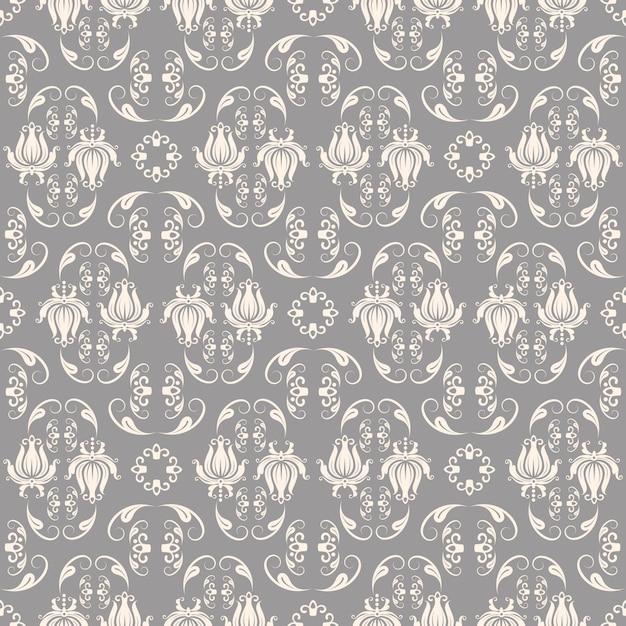 Baroque pattern Free Vector