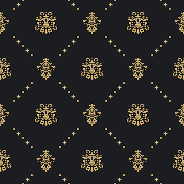 Baroque vintage seamless background Free Vector