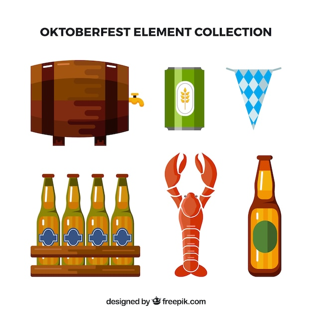 Barrel collection and other traditional elements of oktoberfest