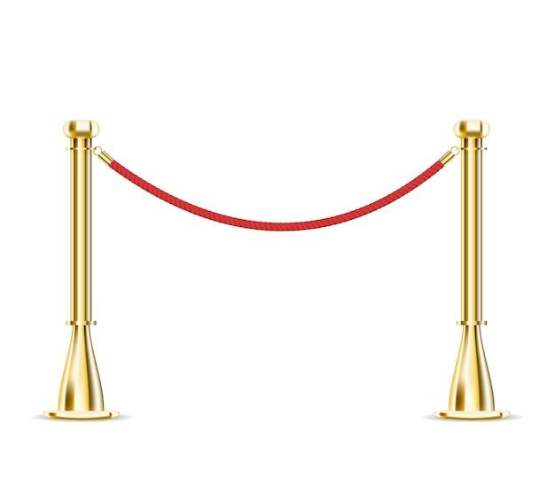 Corda barriera isolata Vettore gratuito